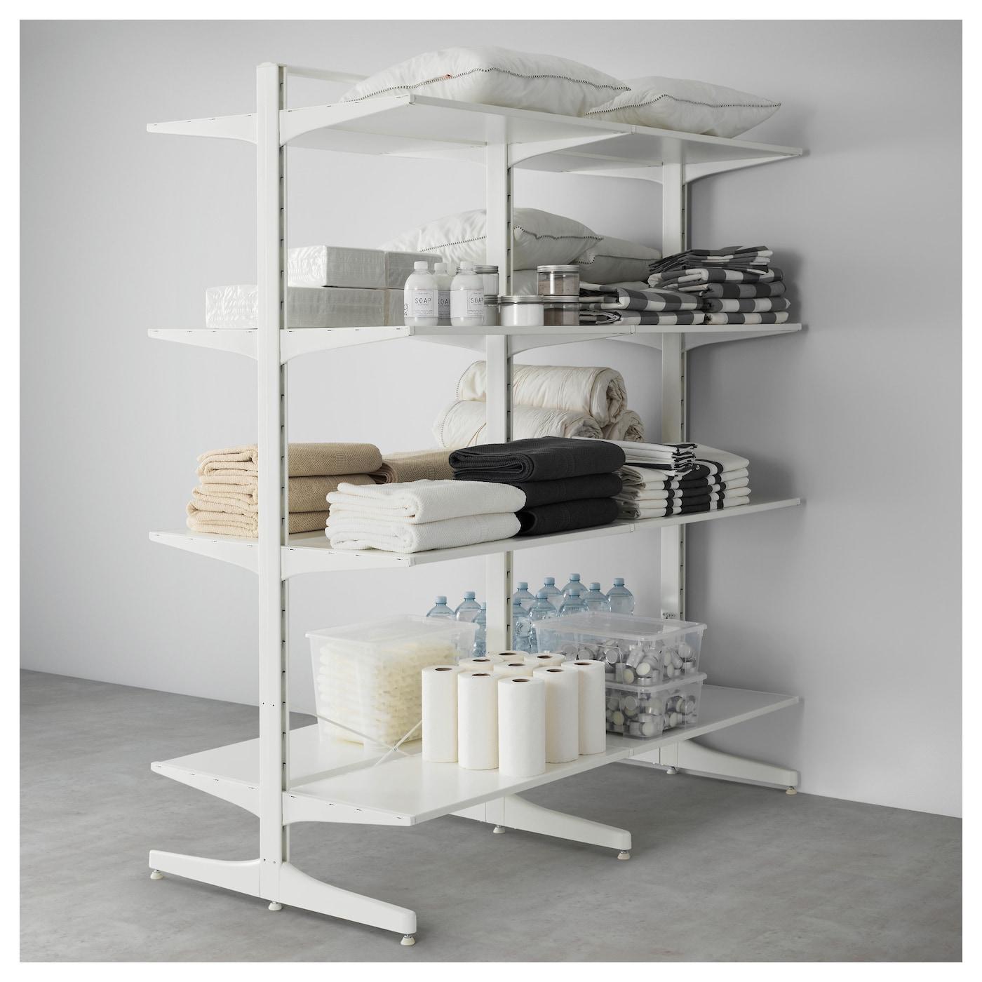 algot montant pied tablettes blanc 167x83x194 cm ikea. Black Bedroom Furniture Sets. Home Design Ideas