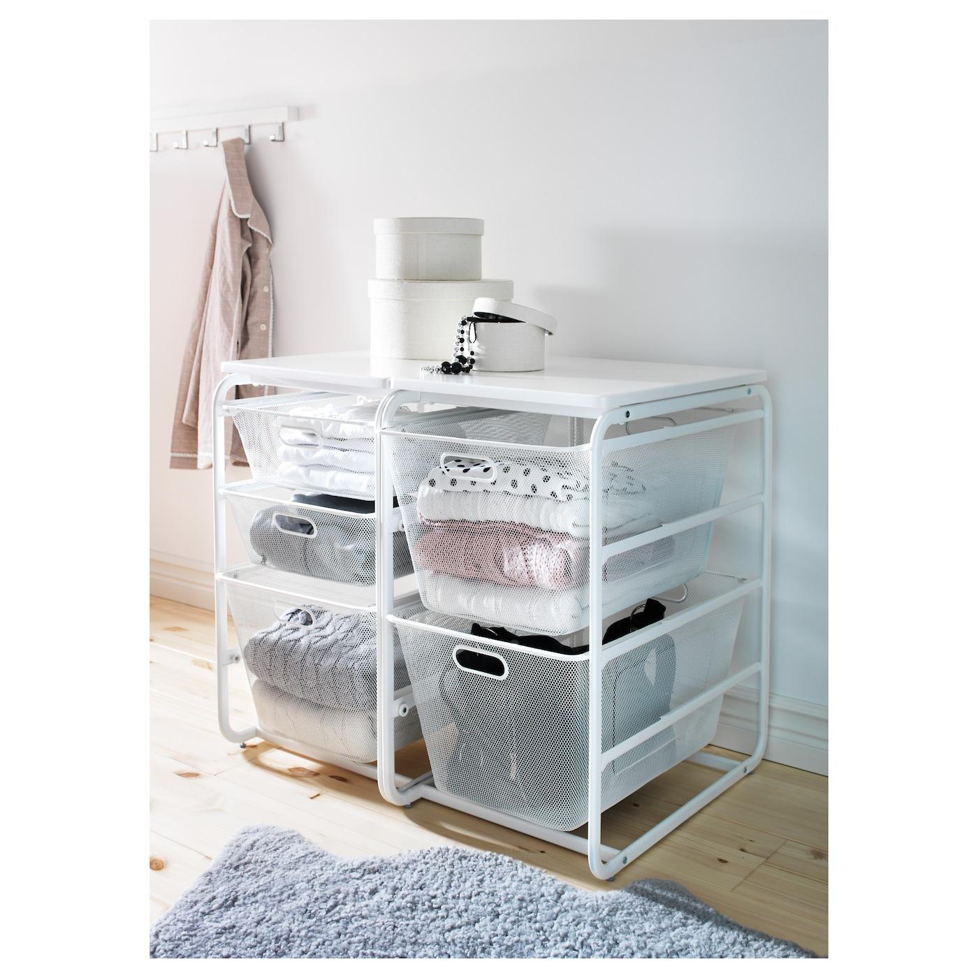 algot structure 2corbeilles filet tab sup blanc 41x60x75 cm ikea. Black Bedroom Furniture Sets. Home Design Ideas