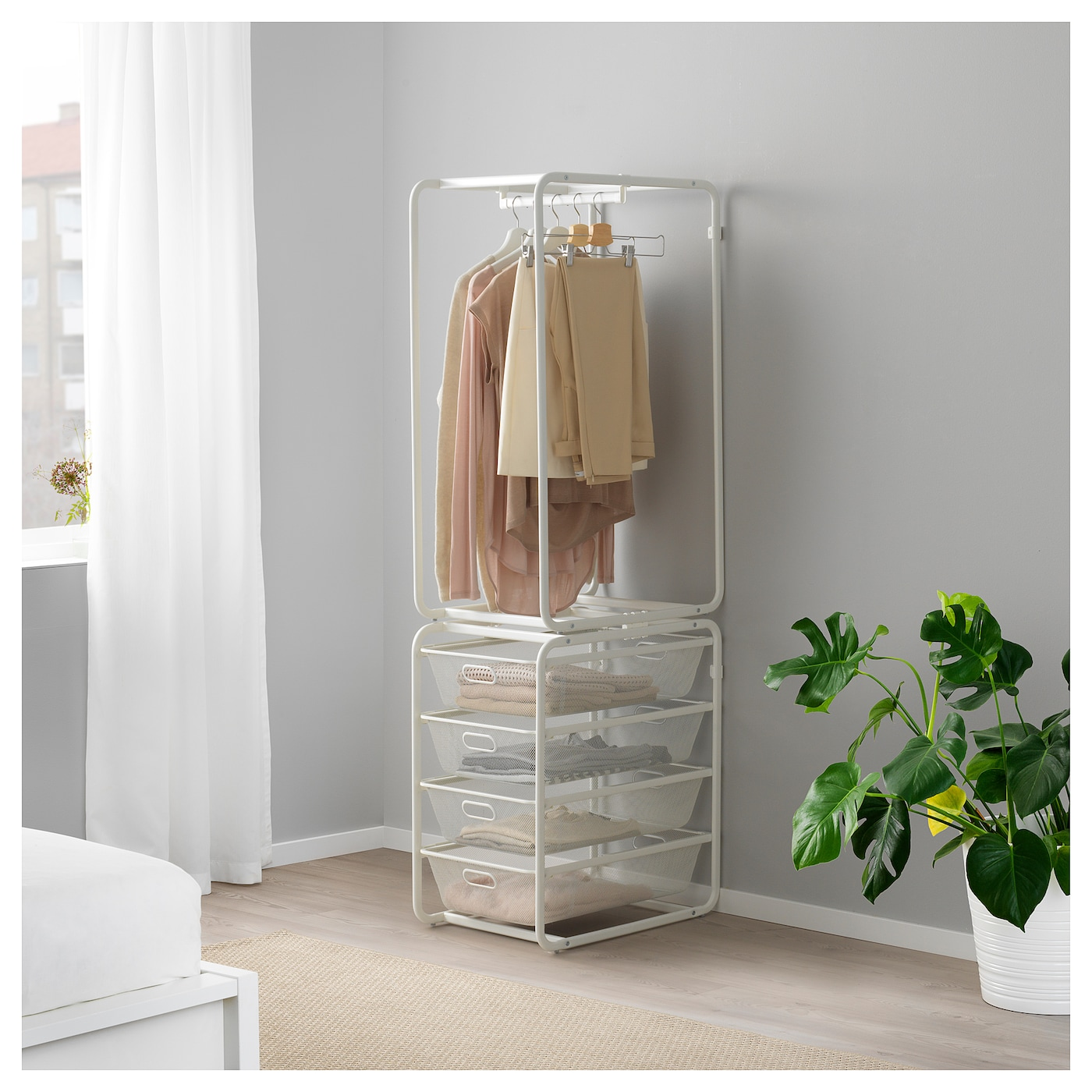 algot structure tringle corbeilles filet blanc 174 cm ikea. Black Bedroom Furniture Sets. Home Design Ideas