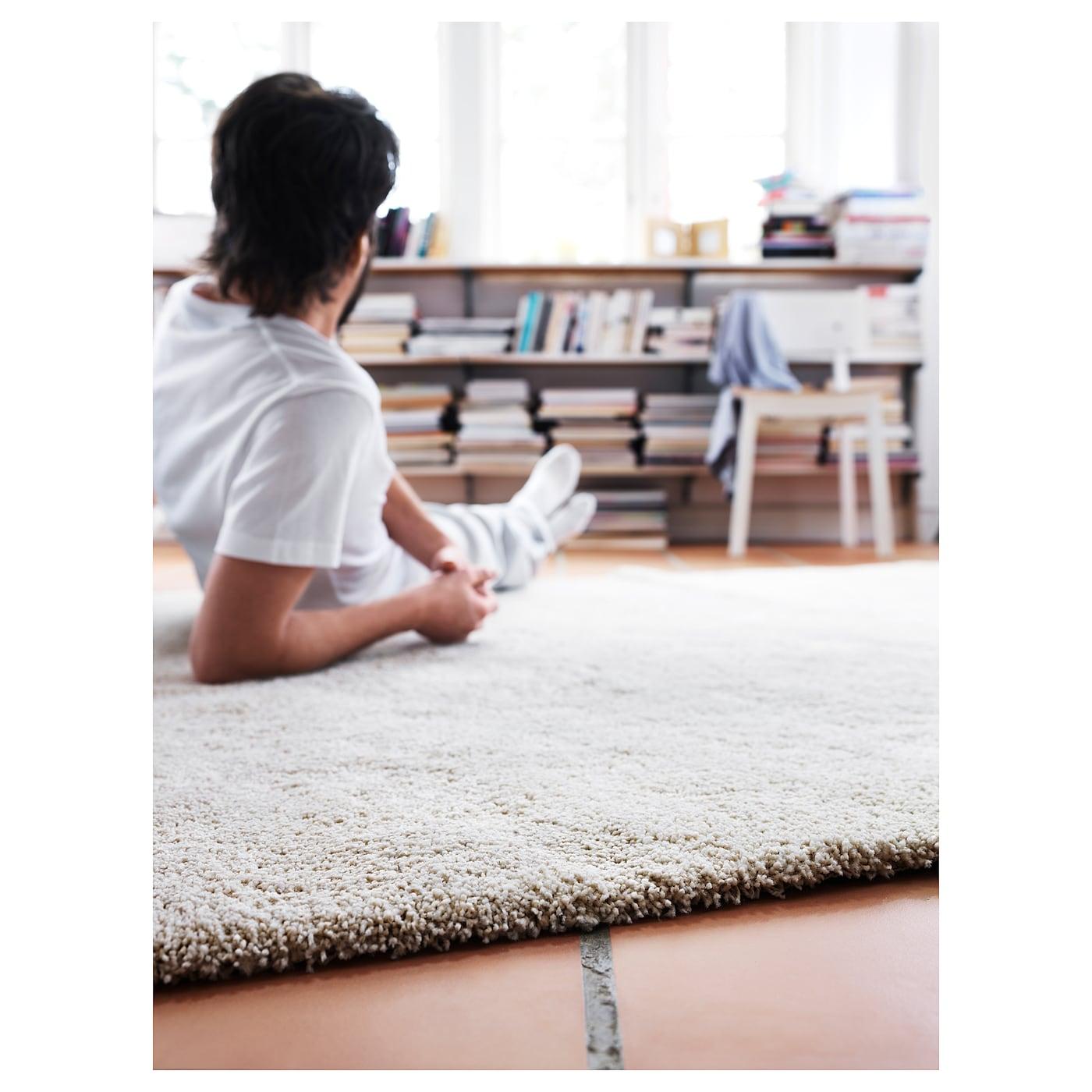 alhede tapis poils hauts blanc cass 80x150 cm ikea. Black Bedroom Furniture Sets. Home Design Ideas