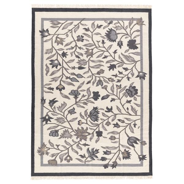 ALVINE Tapis tissé à plat, fait main gris, 170x240 cm