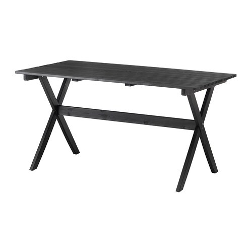 Ngs table ext rieur teint brun noir ikea for Exterieur ikea
