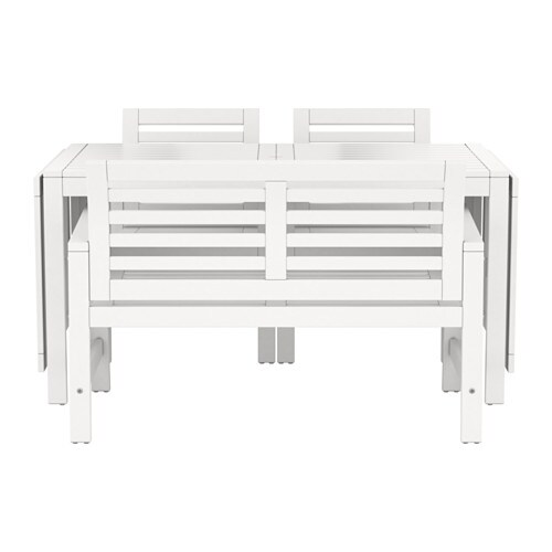 ÄPPLARÖ Table+2 ch accoud+banc, extérieur  blanc  IKEA -> Banc De Table Blanc