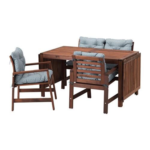 pplar table 2 ch accoud banc ext rieur pplar teint. Black Bedroom Furniture Sets. Home Design Ideas