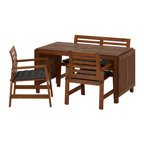 Pplar table 2 ch accoud banc ext rieur pplar teint - Table banc exterieur ...
