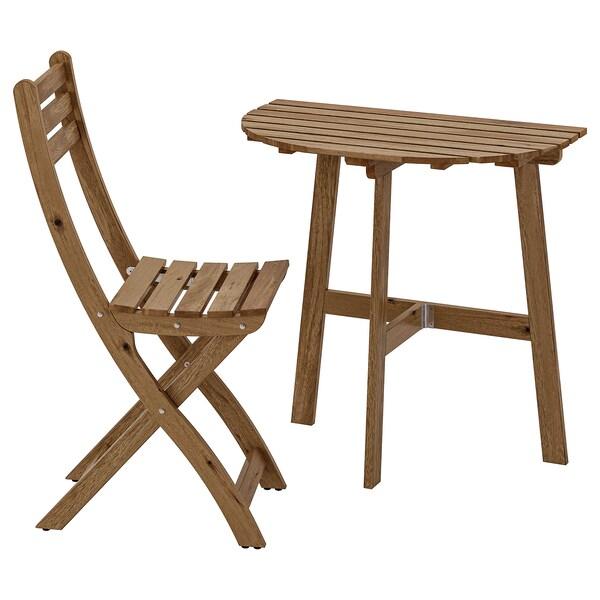 1 plianteext brun mur teinté chaise ASKHOLMEN gris Table kZiuPX