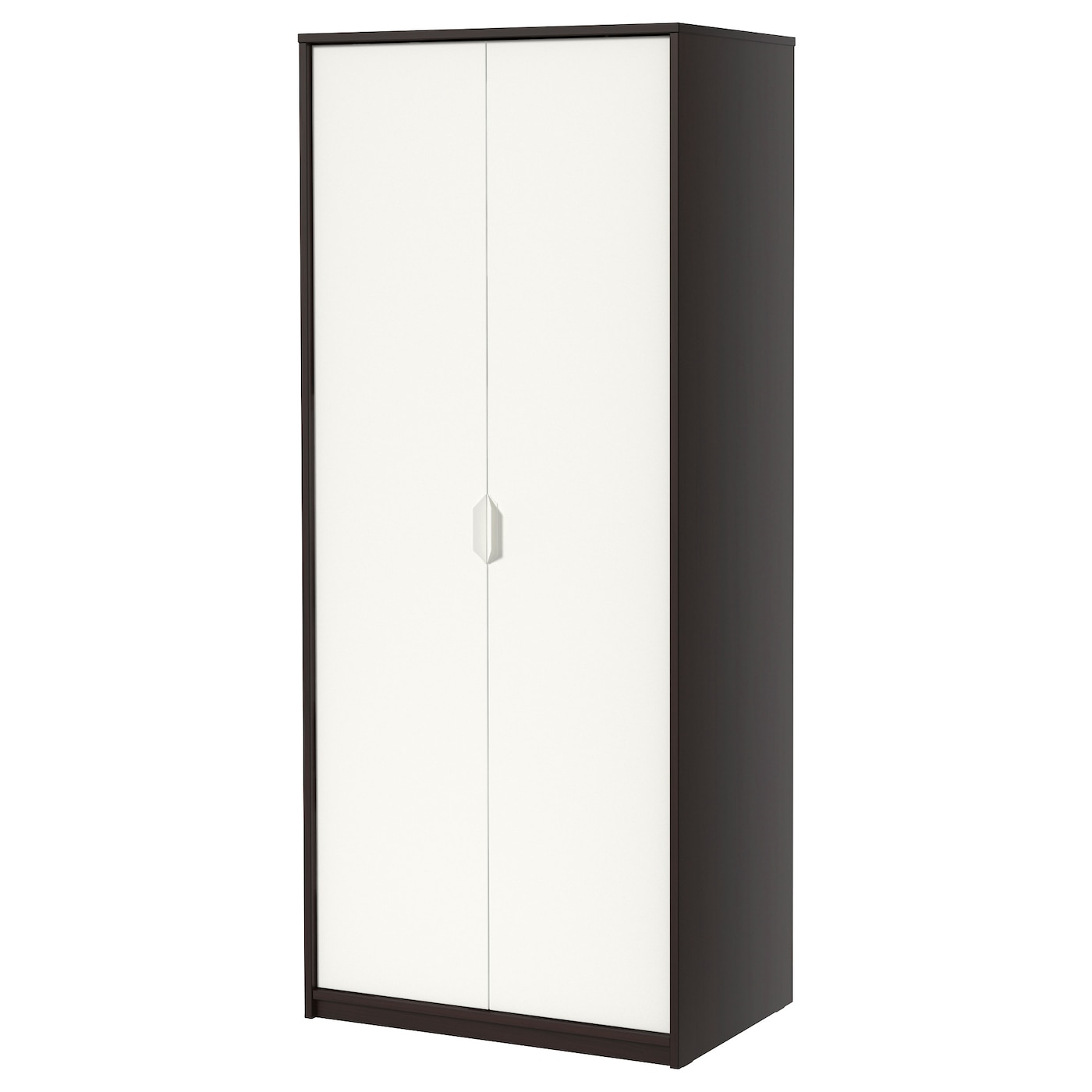 askvoll armoire brun noir blanc 80 x 52 x 189 cm ikea. Black Bedroom Furniture Sets. Home Design Ideas