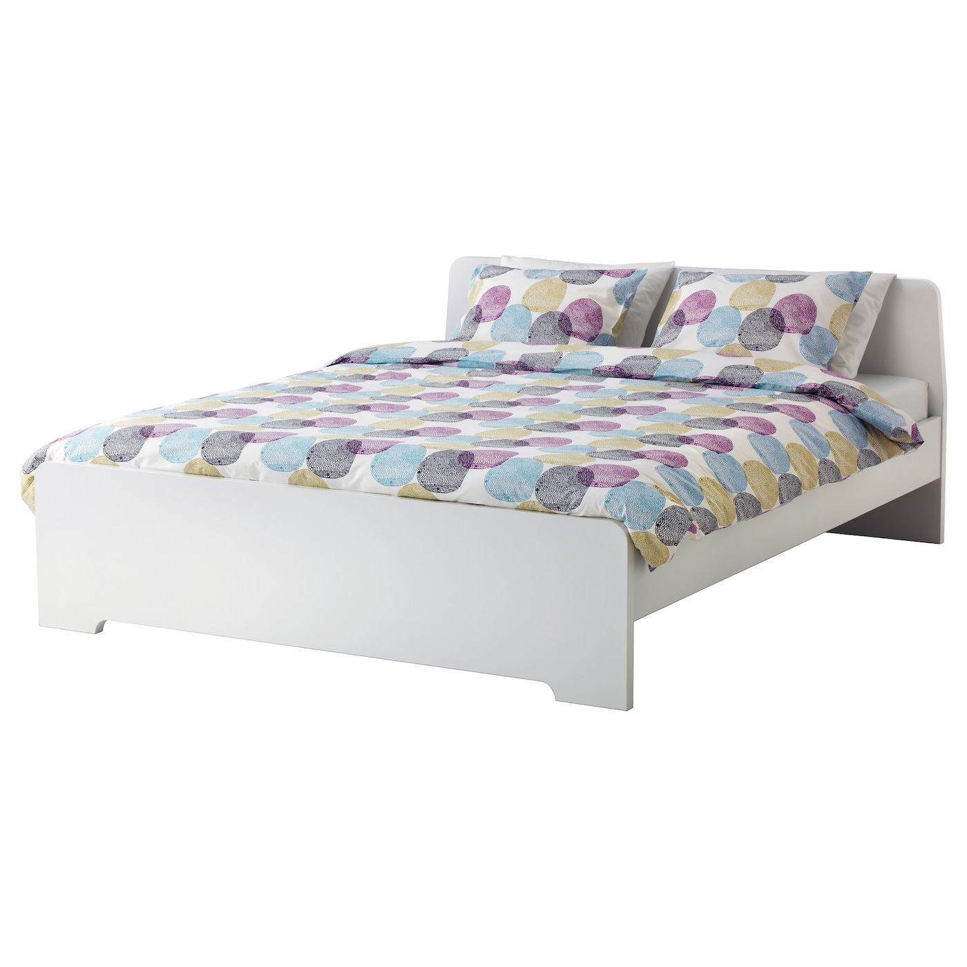 Askvoll cadre de lit blanc 140 x 200 cm ikea for Cadres de lit ikea