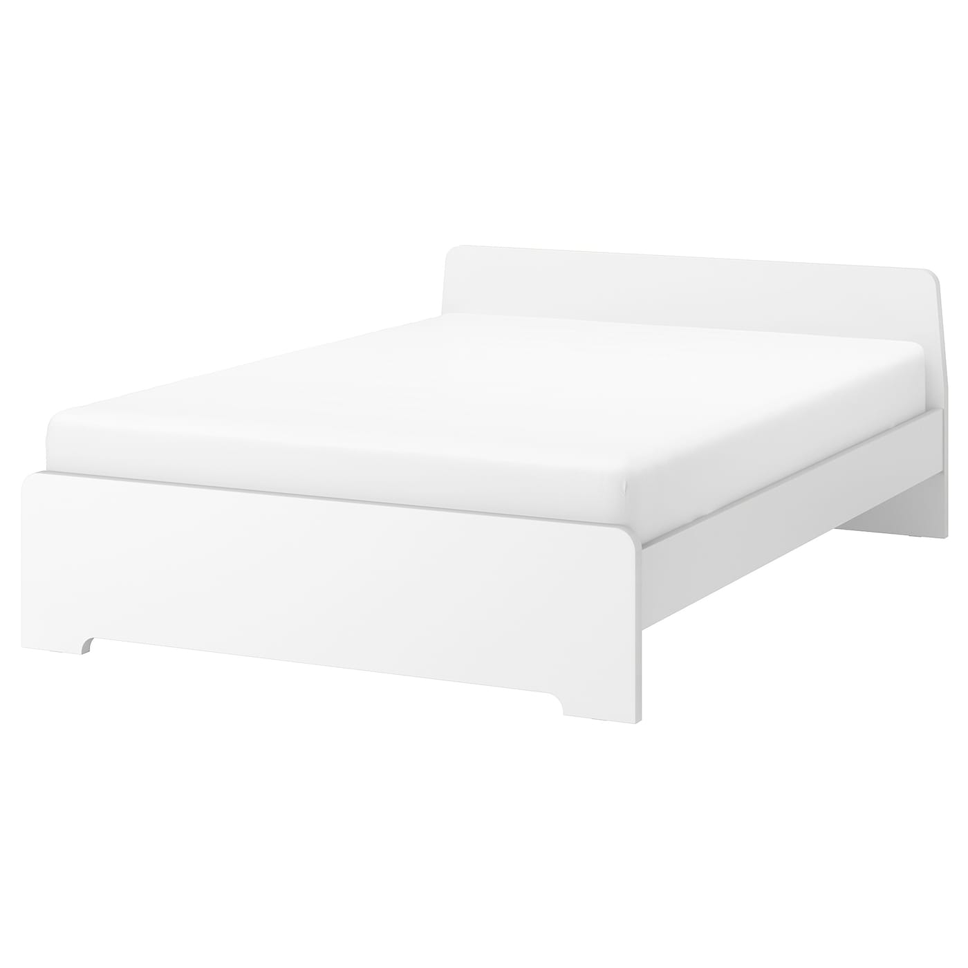 askvoll cadre de lit blanc 140 x 200 cm ikea. Black Bedroom Furniture Sets. Home Design Ideas