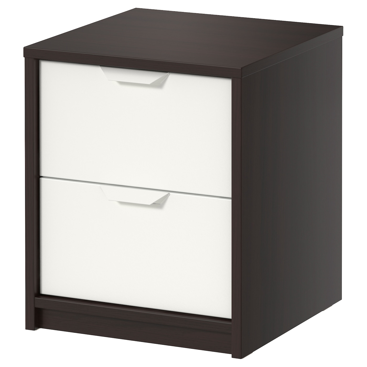 askvoll commode 2 tiroirs brun noir blanc 41x48 cm ikea. Black Bedroom Furniture Sets. Home Design Ideas