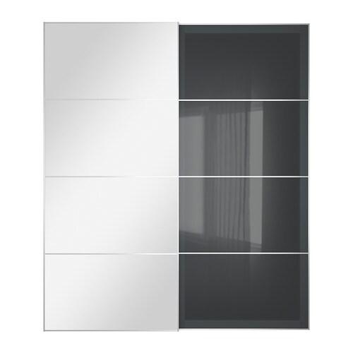 Auli uggdal jeu 2 ptes coul 200x236 cm accessoire de - Armoire 2 portes coulissantes miroir ikea ...
