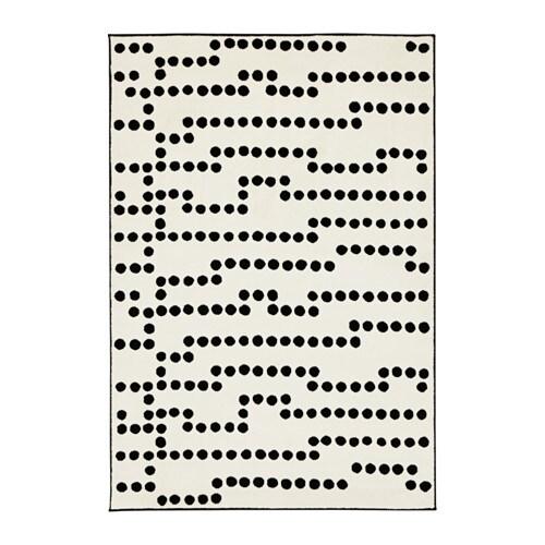 Avsiktlig Tapis Poils Ras Blanc Noir 133 X 195 Cm Ikea