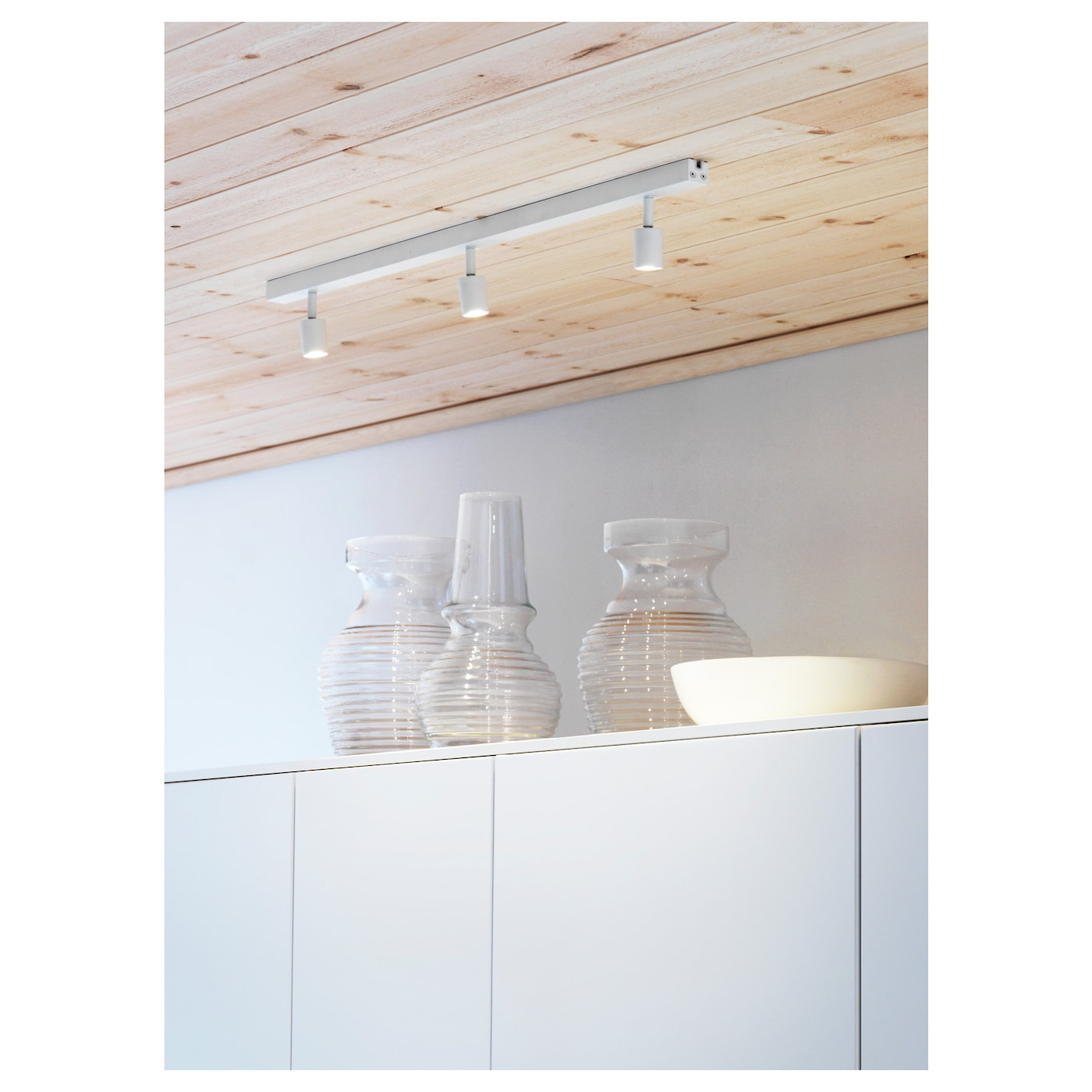 b ve rail pour plafond led 3spots blanc ikea. Black Bedroom Furniture Sets. Home Design Ideas