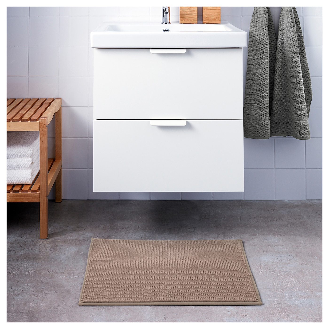 badaren tapis de bain beige 40x60 cm ikea. Black Bedroom Furniture Sets. Home Design Ideas