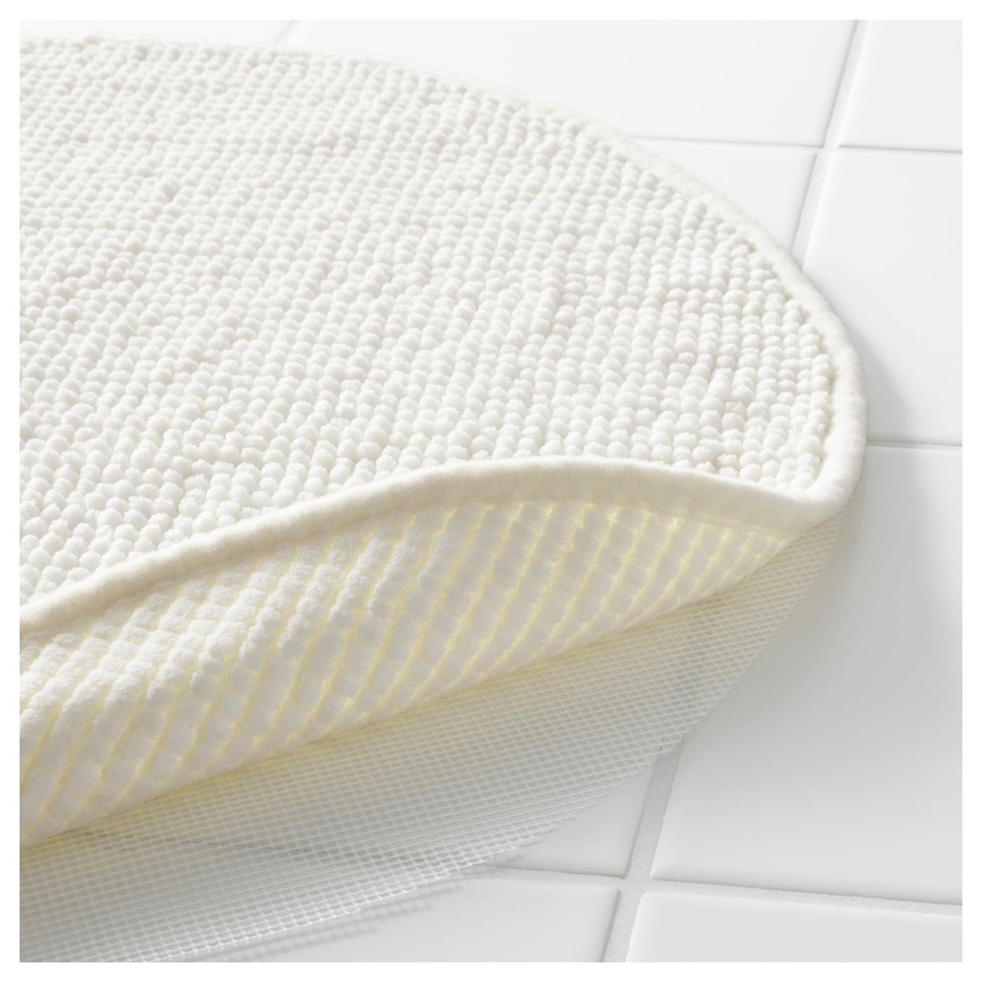 Badaren tapis de bain blanc 55 cm ikea - Tapis blanc ikea ...