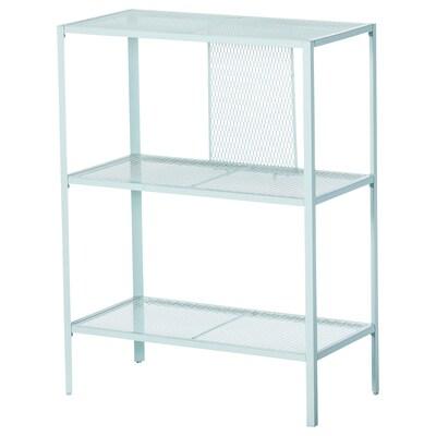 BAGGEBO Étagère, métal/turquoise clair, 60x30x80 cm