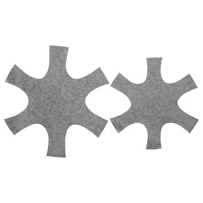 BEDÖMA Protège poêle, 2 pièces, gris