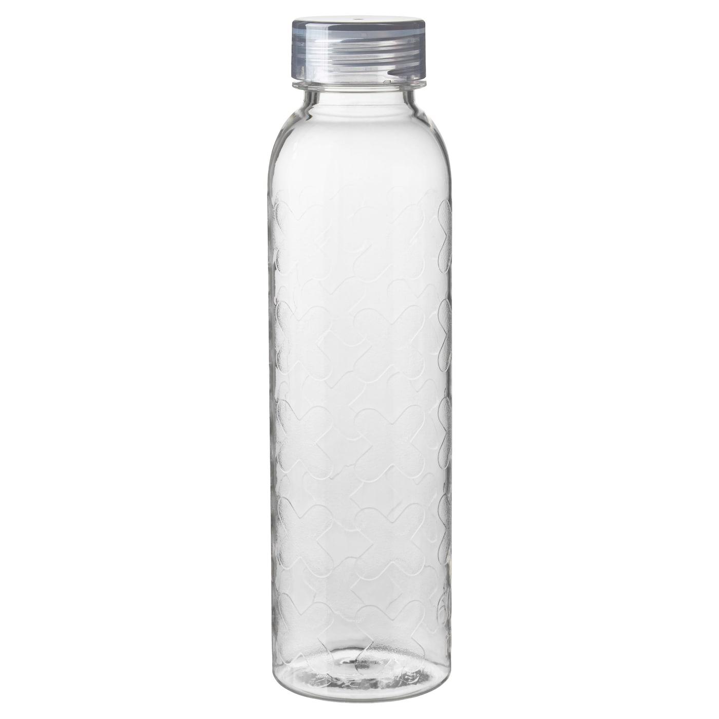 Beh llare bouteille eau transparent gris 0 6 l ikea for Botellas de cristal ikea