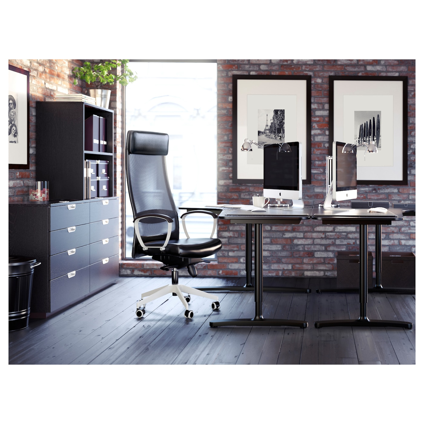 bekant bureau d 39 angle gch brun noir noir 160 x 110 cm ikea. Black Bedroom Furniture Sets. Home Design Ideas
