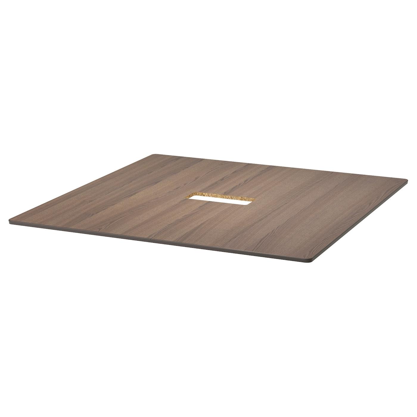 bekant plateau de table gris 140x140 cm ikea. Black Bedroom Furniture Sets. Home Design Ideas