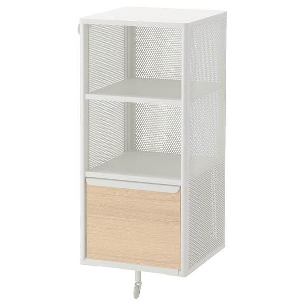 BEKANT Rangement, grillage/blanc, 41x101 cm