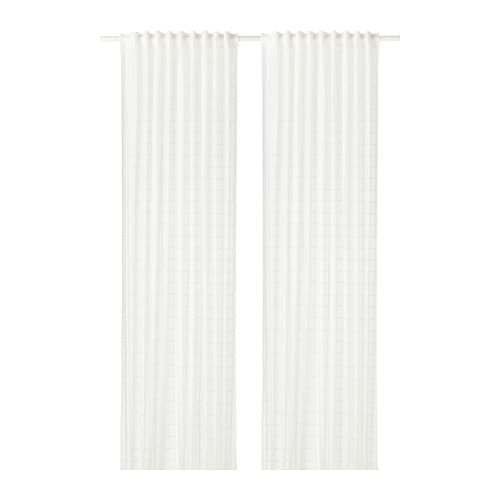 BERGITTE Voilage, 1 paire Blanc 140 x 300 cm - IKEA