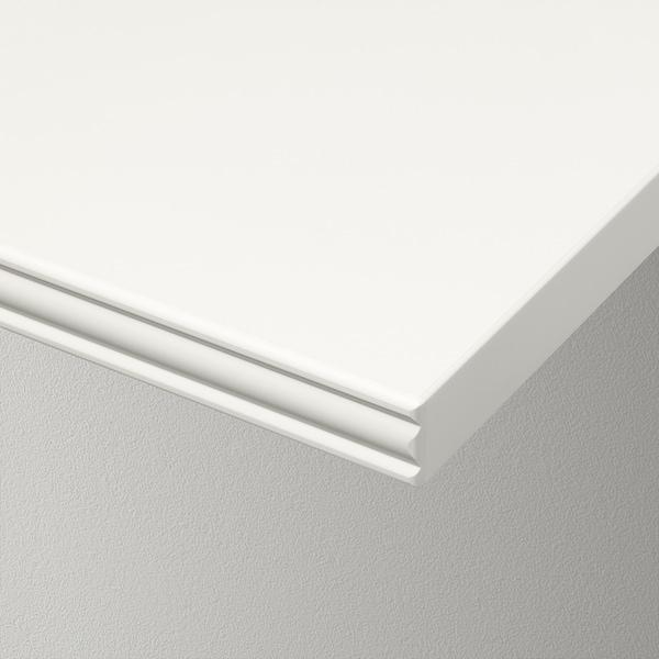 BERGSHULT / GRANHULT Étagère murale, blanc/nickelé, 160x30 cm