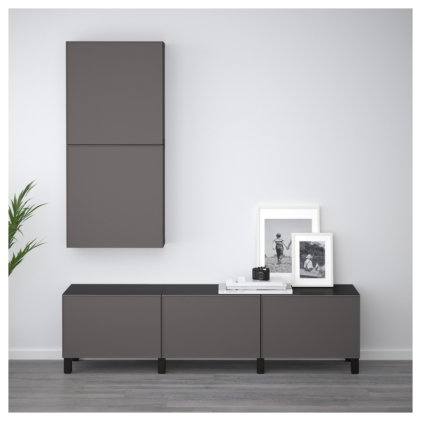 best l ment mural 2 portes brun noir grundsviken gris fonc 60 x 20 x 128 cm ikea. Black Bedroom Furniture Sets. Home Design Ideas