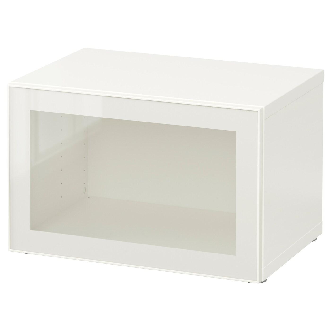 best tag re avec porte vitr e blanc glassvik blanc verre transparent 60x40x38 cm ikea. Black Bedroom Furniture Sets. Home Design Ideas