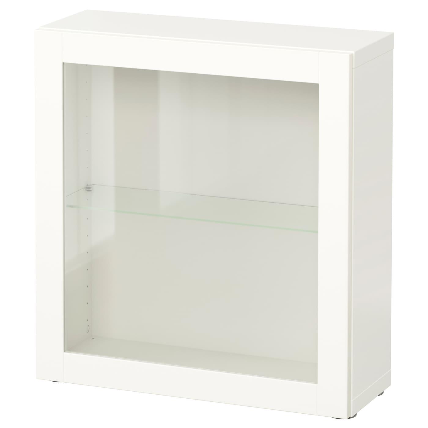 BESTÅ Étagère Avec Porte Vitrée Sindvik Blanc Xx Cm IKEA - Etagere avec porte
