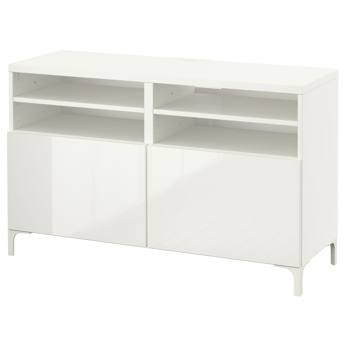 best banc tv avec portes blanc selsviken brillant blanc 120x40x74 cm ikea. Black Bedroom Furniture Sets. Home Design Ideas