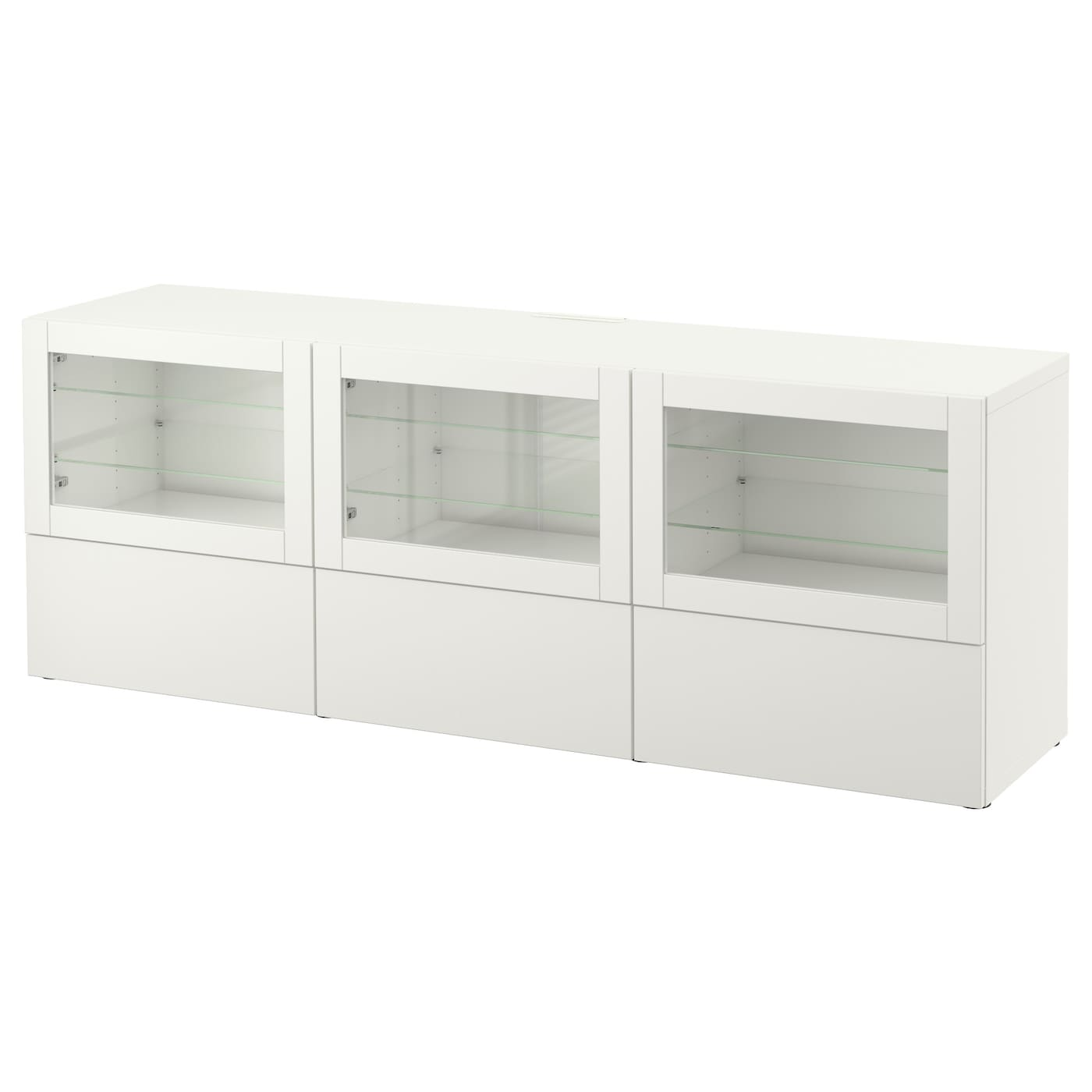 best banc tv avec portes et tiroirs lappviken sindvik blanc verre transparent 180x40x64 cm ikea. Black Bedroom Furniture Sets. Home Design Ideas