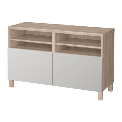 best banc tv avec portes motif noyer teint gris lappviken gris clair 120x40x74 cm ikea. Black Bedroom Furniture Sets. Home Design Ideas