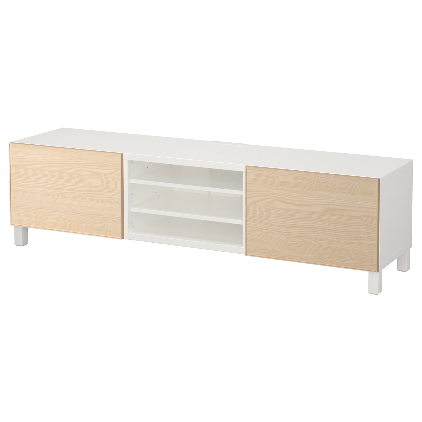 best banc tv avec tiroirs blanc inviken plaqu fr ne 180x40x48 cm ikea. Black Bedroom Furniture Sets. Home Design Ideas