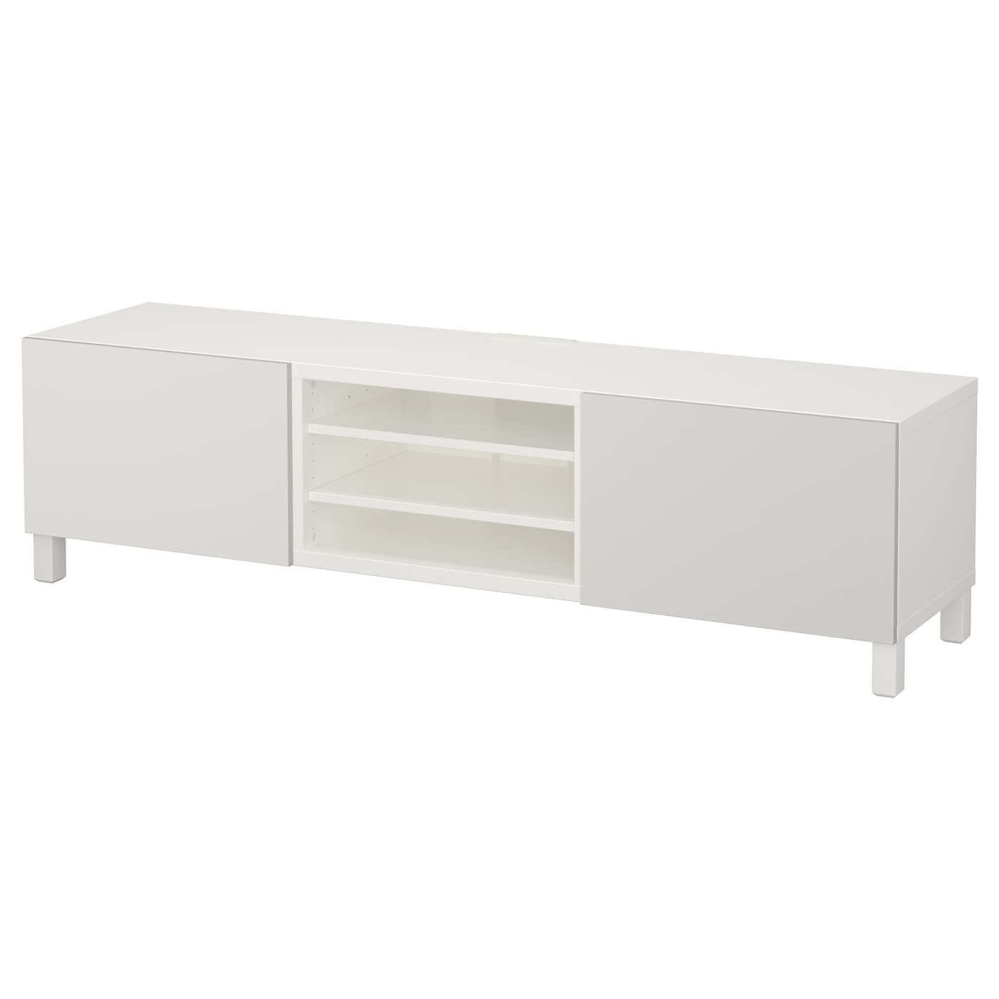 best banc tv avec tiroirs blanc lappviken gris clair 180x40x48 cm ikea. Black Bedroom Furniture Sets. Home Design Ideas