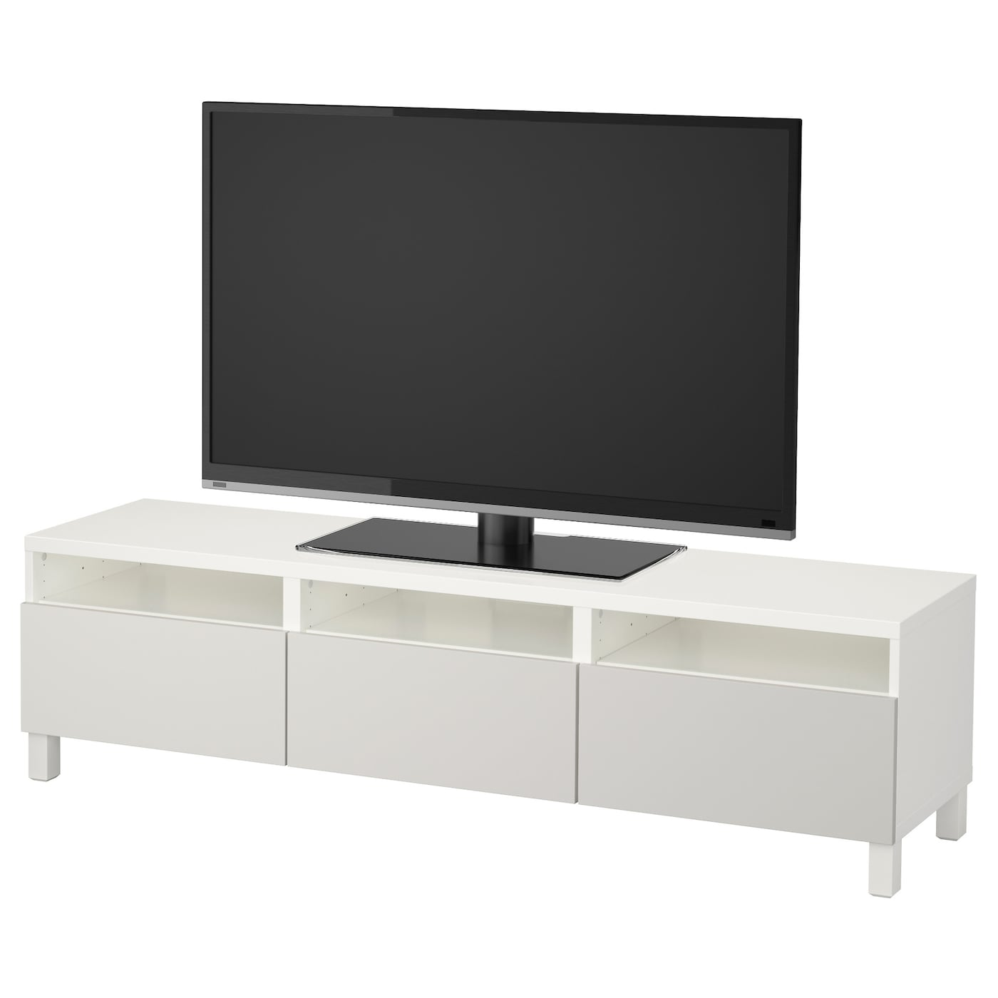 best banc tv avec tiroirs blanc lappviken gris clair. Black Bedroom Furniture Sets. Home Design Ideas