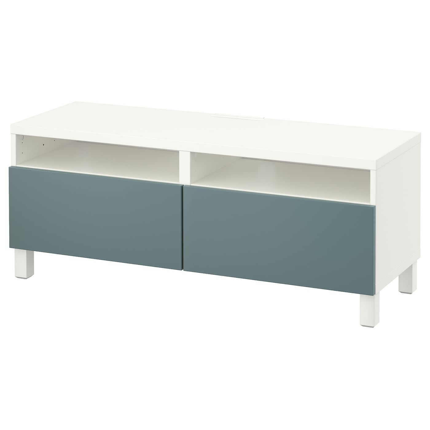 best banc tv avec tiroirs blanc valviken gris turquoise. Black Bedroom Furniture Sets. Home Design Ideas