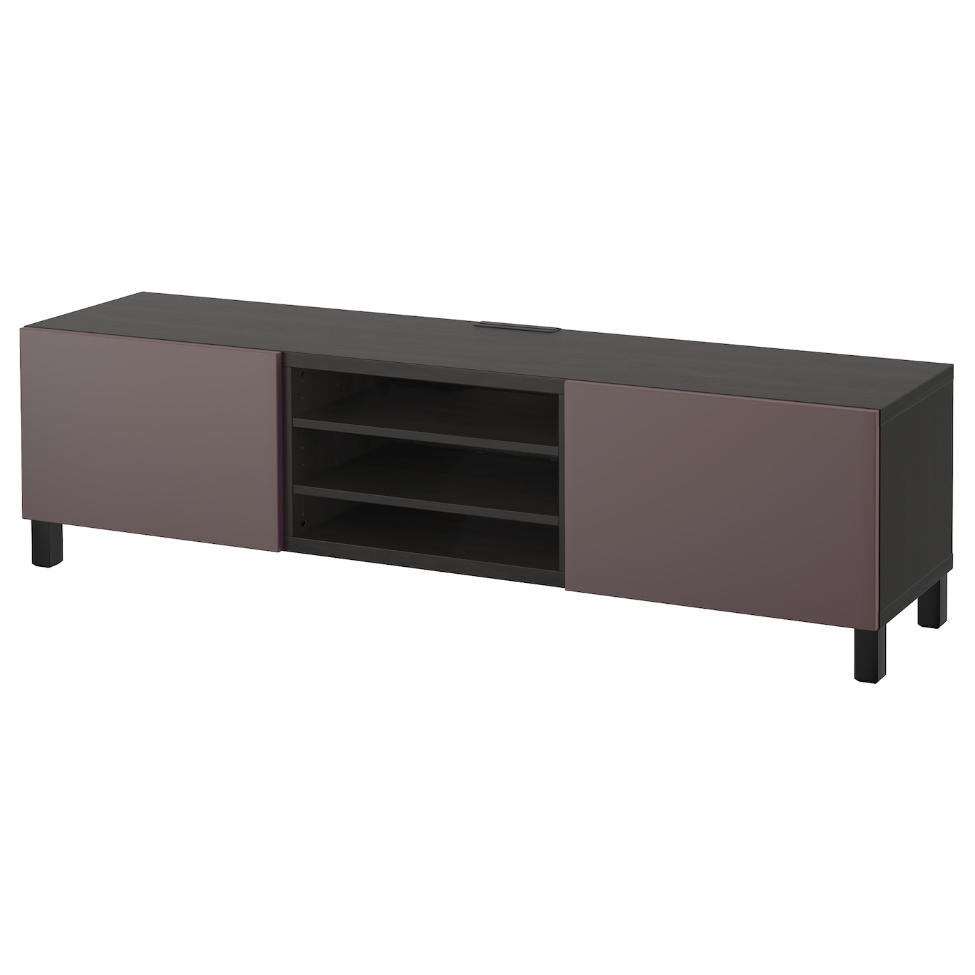 best banc tv avec tiroirs brun noir valviken brun fonc 180x40x48 cm ikea. Black Bedroom Furniture Sets. Home Design Ideas
