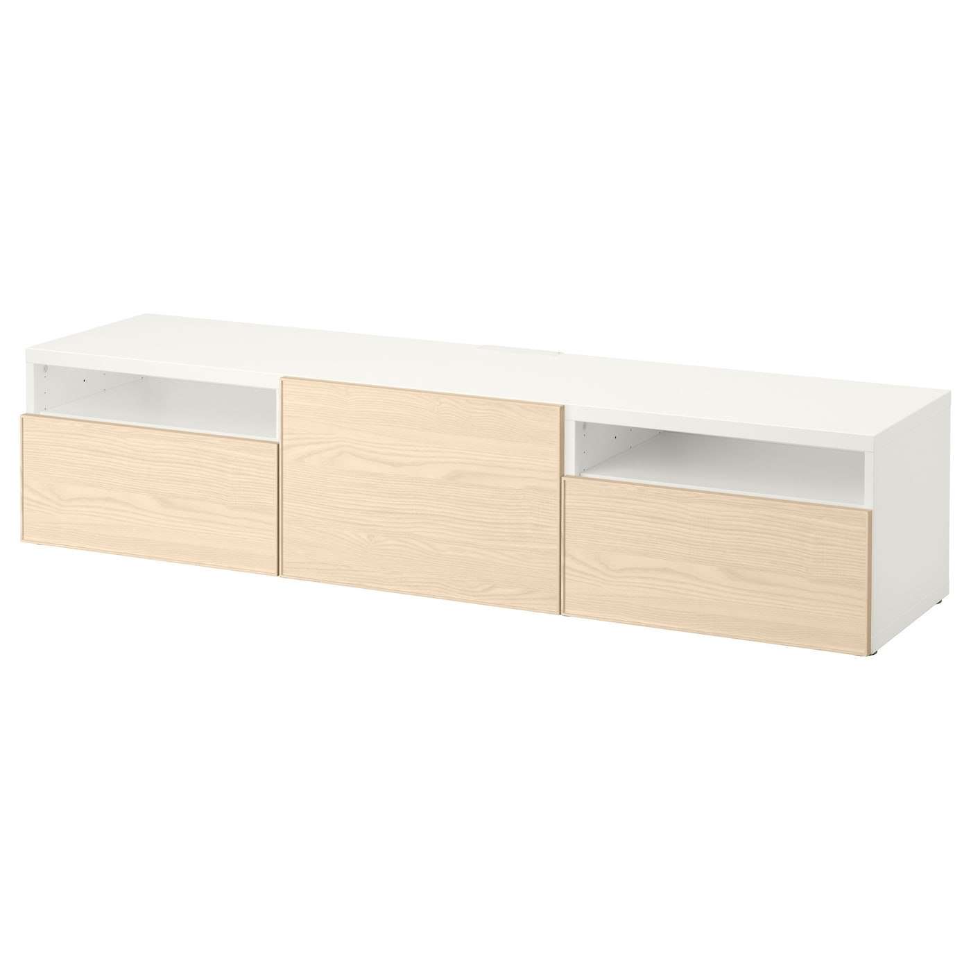 best banc tv blanc inviken plaqu fr ne 180x40x38 cm ikea. Black Bedroom Furniture Sets. Home Design Ideas