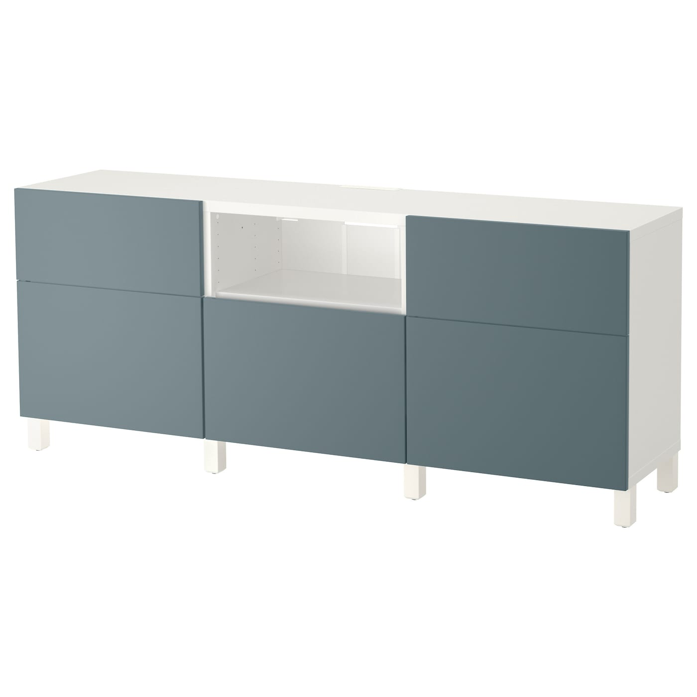 best banc tv blanc valviken gris turquoise 180x40x74 cm. Black Bedroom Furniture Sets. Home Design Ideas