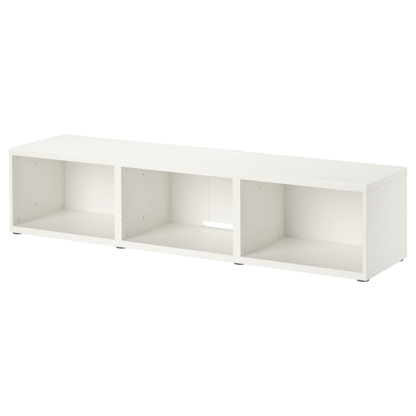Best Banc Tv Blanc 180x40x38 Cm Ikea # Meuble Tv Blanc Suspendu Ikea
