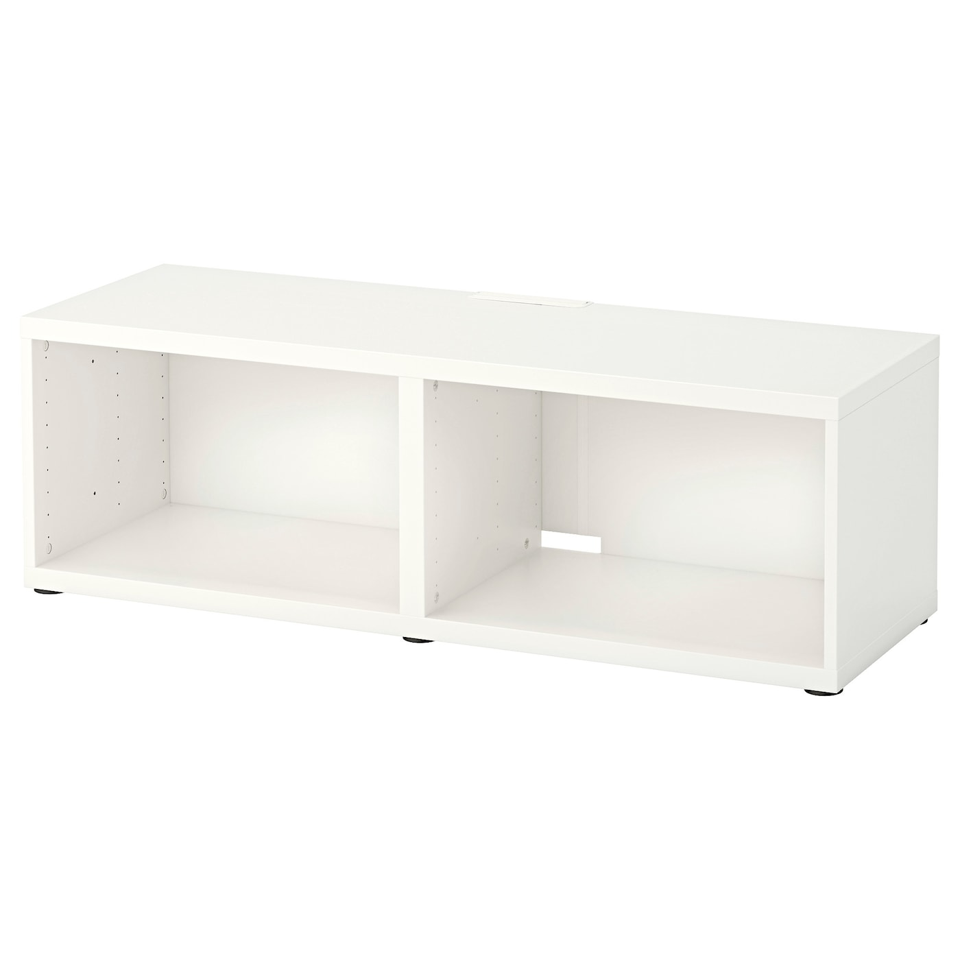 Best Banc Tv Blanc 120x40x38 Cm Ikea # Meuble Blanc Tv Ikea