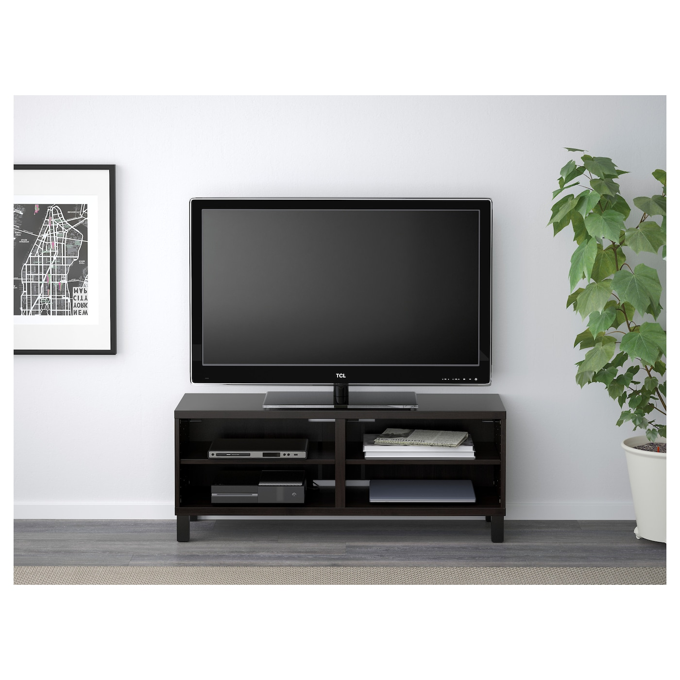 Best Banc Tv Brun Noir 120x40x48 Cm Ikea # Panneau Tv Ikea