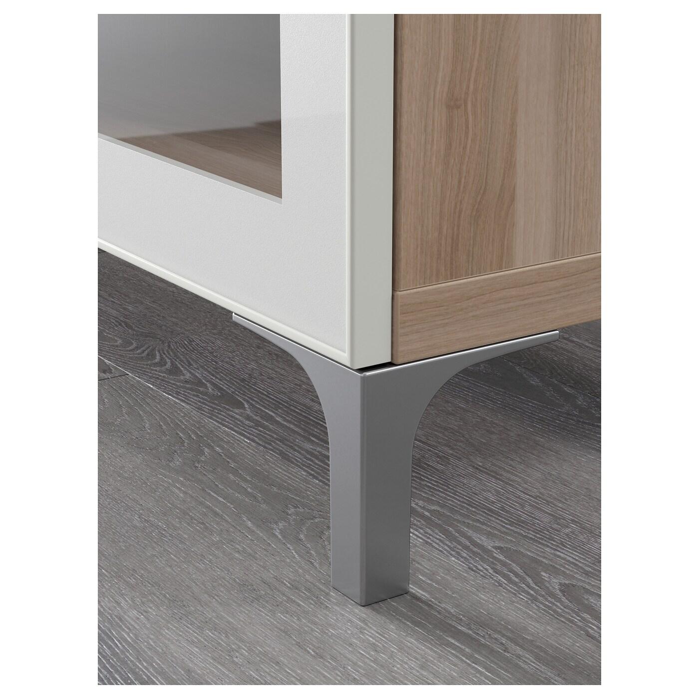 Best Banc Tv Motif Noyer Teint Gris Selsviken Brillant Blanc  # Banc Tv Ikea Besta Noyer Teinte Gris