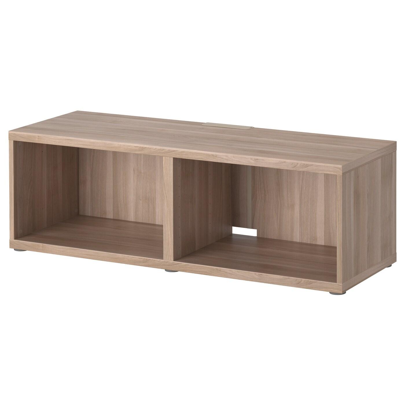 best banc tv motif noyer teint gris 120x40x38 cm ikea. Black Bedroom Furniture Sets. Home Design Ideas
