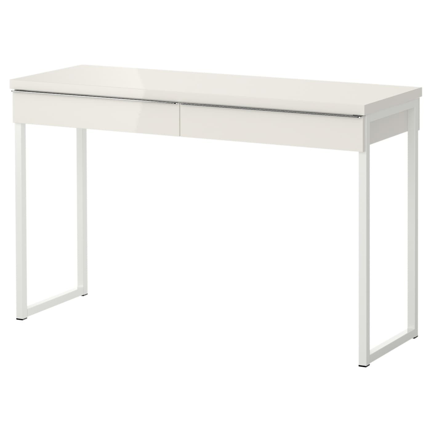 best burs bureau brillant blanc 120 x 40 cm ikea. Black Bedroom Furniture Sets. Home Design Ideas