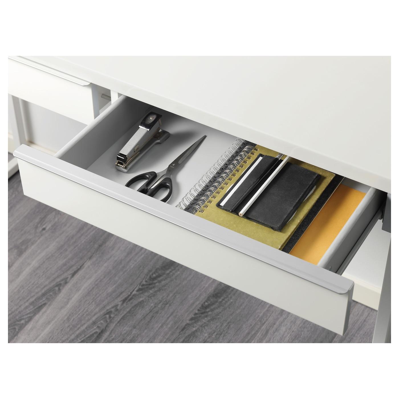 Bestå Burs Bureau Brillant Blanc 120 X 40 Cm Ikea