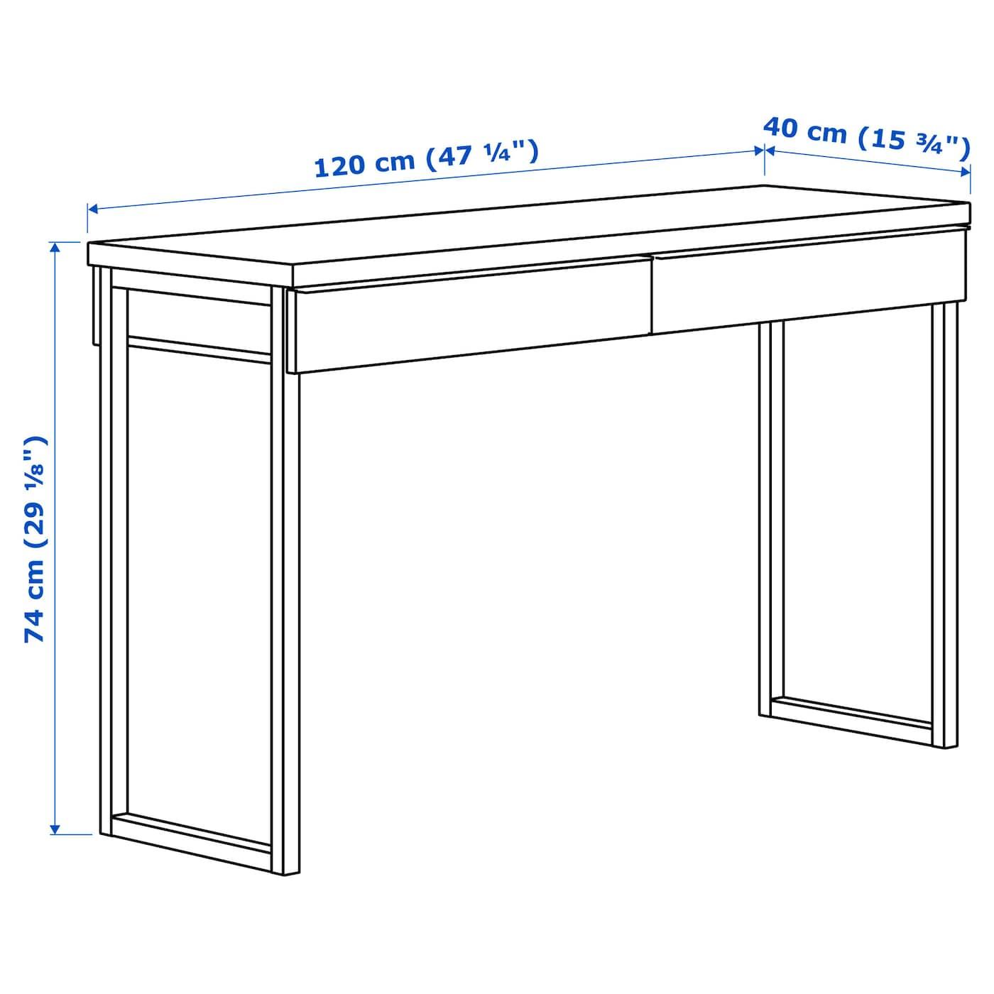 best burs bureau brillant blanc 120 x 40 cm ikea. Black Bedroom Furniture Sets. Home Design Ideas