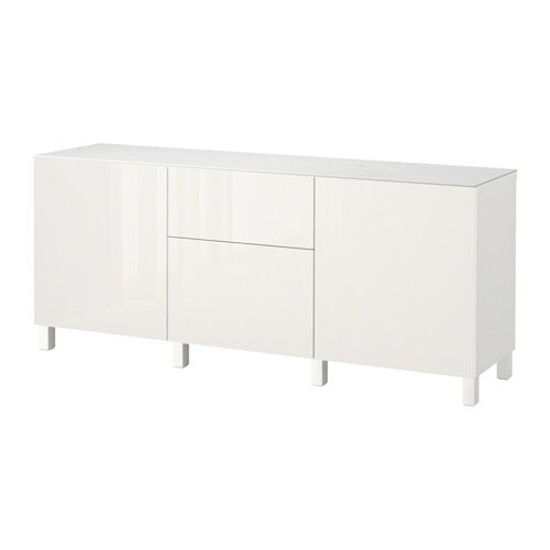 best combi rgt portes tiroirs blanc selsviken brillant blanc 180x42x74 cm ikea. Black Bedroom Furniture Sets. Home Design Ideas