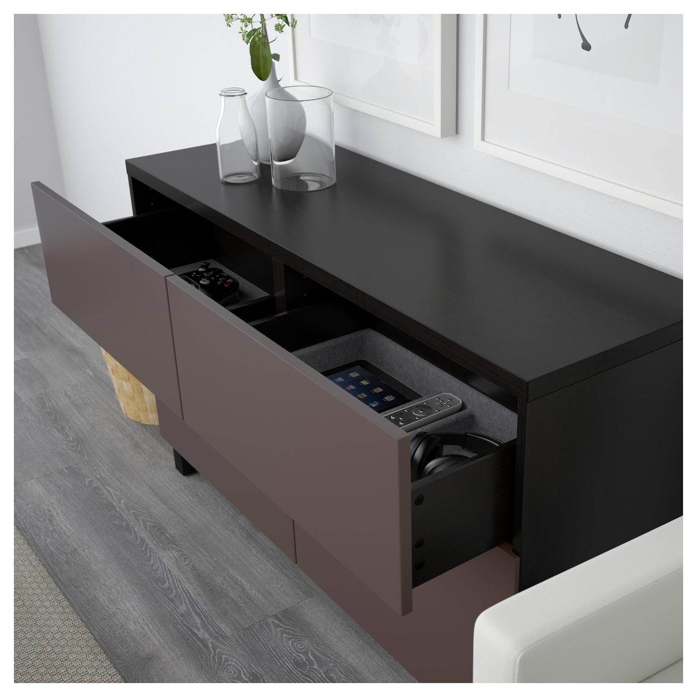 best combi rgt portes tiroirs brun noir valviken brun fonc 120 x 40 x 74 cm ikea. Black Bedroom Furniture Sets. Home Design Ideas